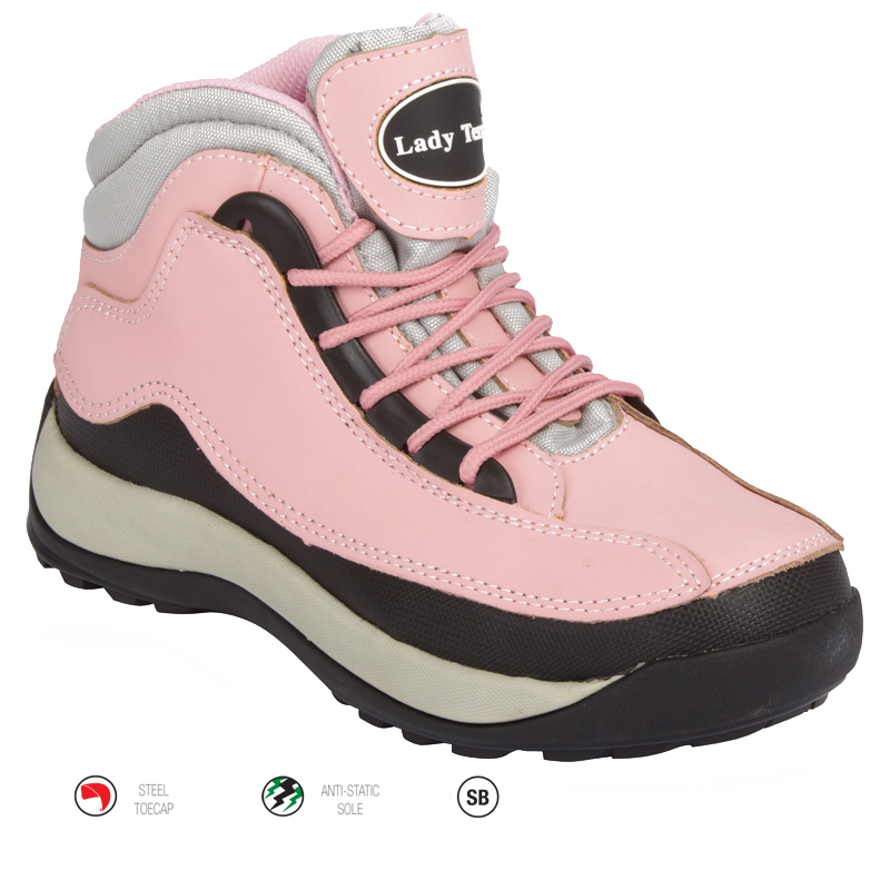 Ladies Sport Pink Safety Boot