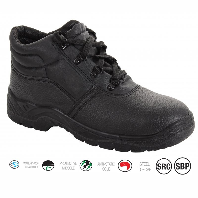 Black Chukka Safety Boot