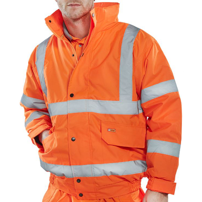 High-Vis Bomber Jacket,  Orange L