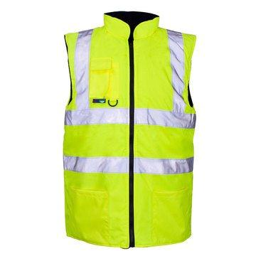 High-Vis Reversible Bodywarmer Yellow L
