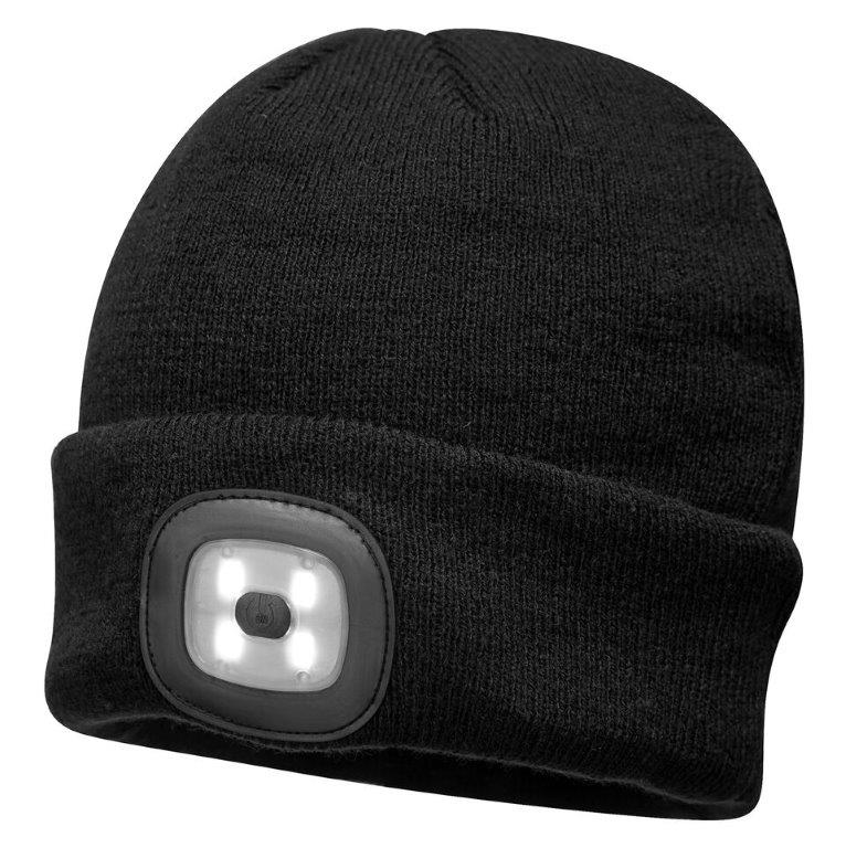 Beanie LED Head Light USB Rechargeable - Black