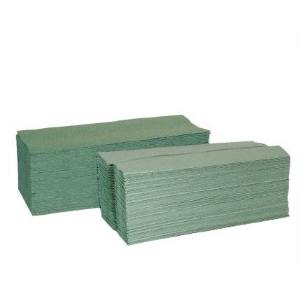 1-ply Green C-Fold Hand Towels  Green  pk 26882700