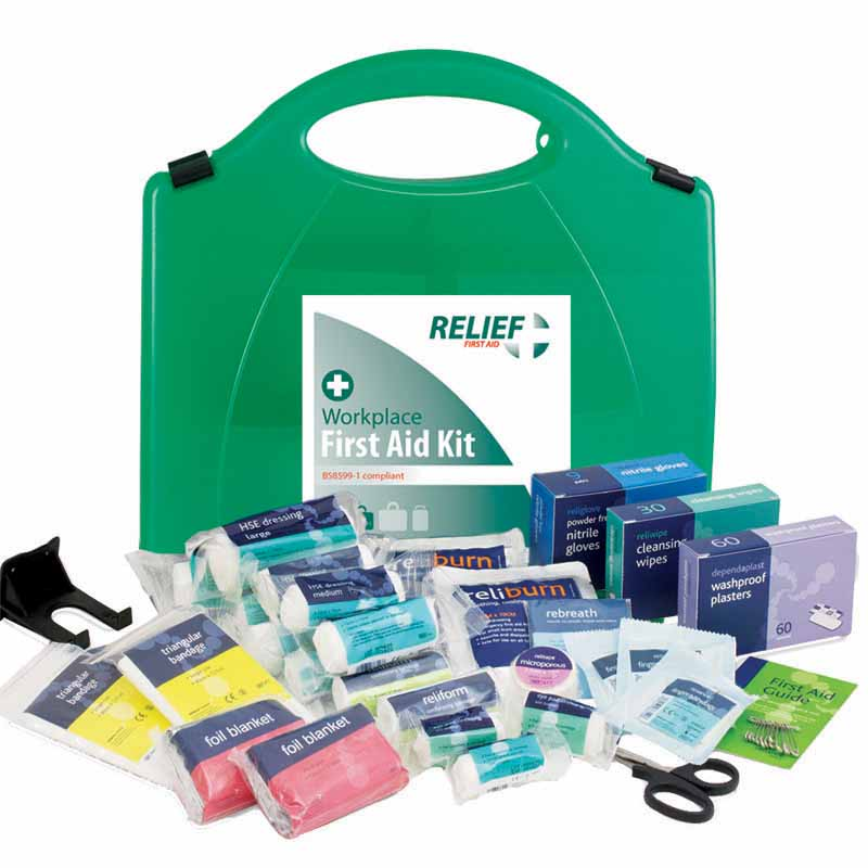 Medium First Aid Kit (BS8599-1 compliant): 5-25 persons