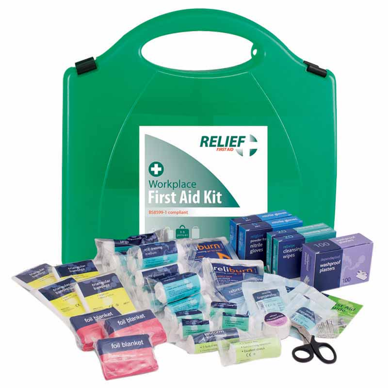 Large First Aid Kit (BS8599-1 compliant): 25+ persons