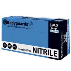 Blue Nitrile Disposable Gloves    XL   pk 100 Powder Free