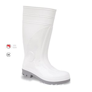 Safety Wellington Boot White, S4 SRC, size 10/44