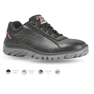 Black Extreme Comfort Leather Shoe, size 9