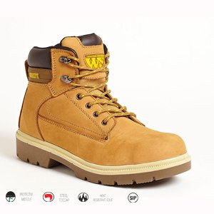 Honey Nubuck Welted Safety Boot