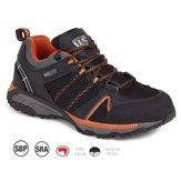 Worksite Mesh Safety Trainer SBP SRA, Black-Orange, Size 10