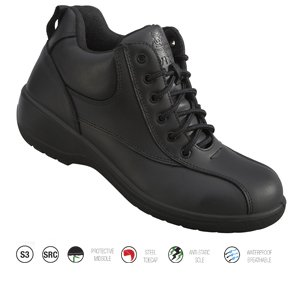 Ladies Black Safety Boot