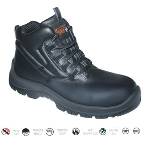 Black Trekker Safety Boot Size 10, Metal-Free