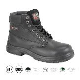 Black Safety Boot Superwide EEEE-Fit, Size 7-41