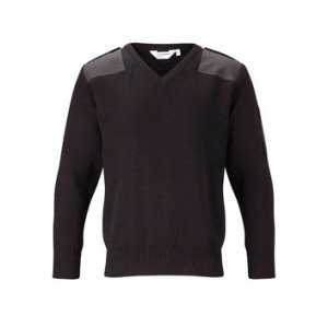 Premium V-Neck Security Jumper Black, 5XL