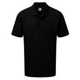 Oriole Polyester Polo Shirt, Black S