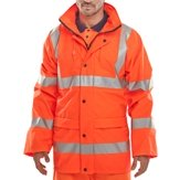 Beartex Breathable High-Vis Waterproof Jacket Orange S