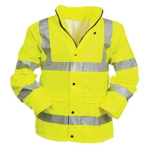 Beartex Breathable High-Vis Waterproof Jacket Yellow M