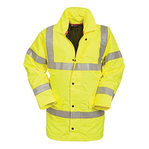 High-Vis Waterproof Coat Yellow XXL