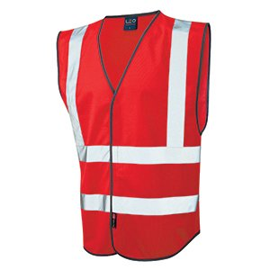 Red High-Vis Waistcoat XL