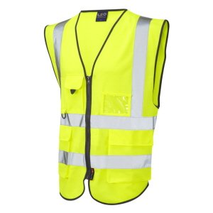 High-Vis Zipped Executive Waistcoat Yellow XL