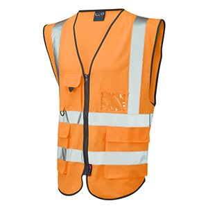 High-Vis Zipped Executive Waistcoat Orange XL
