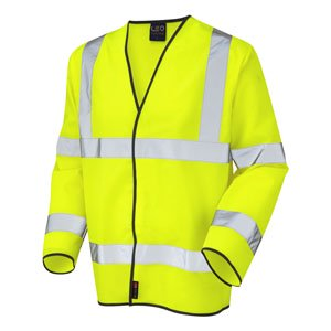 High-Visibility Long Sleeved Waistcoat Yellow XXL