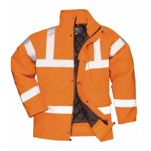 Breathable High-Vis Waterproof Coat  Orange  3XL  (discontin