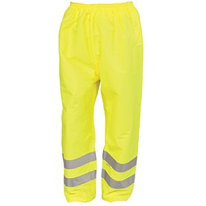 High-Vis Waterproof Trousers  Yellow  XL