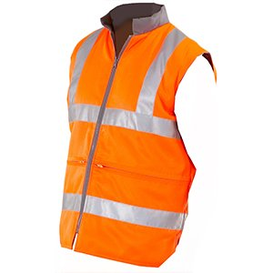 High-Vis Reversible Bodywarmer Orange RIS-3279, XL