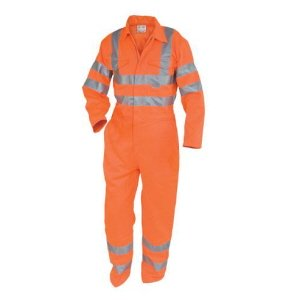 Polycotton High-Vis Rail Overalls  Orange 54-3XL