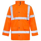 High-Vis Waterproof Coat, Orange 5XL