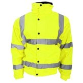 Premium High-Vis Bomber Jacket Yellow