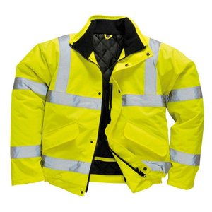 High-Visibility Bomber Jacket Yellow XXL