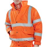High-Vis Bomber Jacket,  Orange M