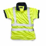 High-Vis  Short Sleeve Polo Shirt  Yellow  XXL