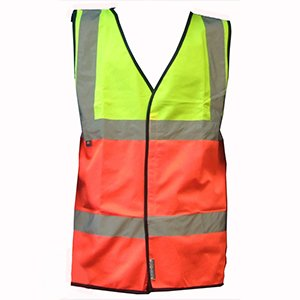 Yellow-Orange High-Vis Waistcoat, size XXL