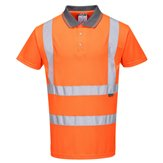 High-Vis  Short Sleeve Polo Shirt Orange XXL
