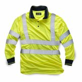 High-Vis Long Sleeve  Polo Shirt  Yellow XXL