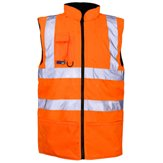 High-Vis Reversible Bodywarmer Orange 3XL