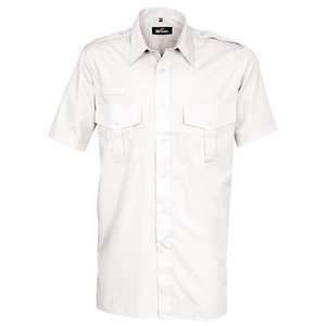 Short Sleeve Essential Pilot Shirt  White  22