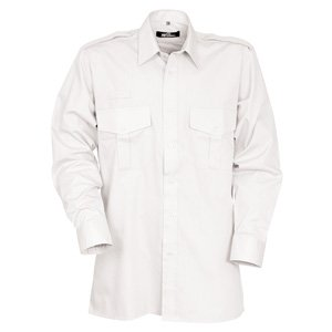 Long Sleeve Essential Pilot Shirt White 21.5
