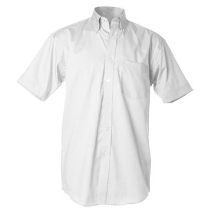 Deluxe Short Sleeve Oxford Shirt  White  XL-17-17.5