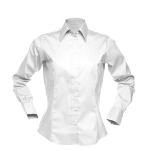 Deluxe Ladies Long Sleeve Oxford Shirt White XS-8