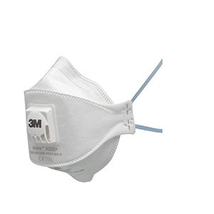 Fold-Flat Valved Disposable Mask FFP2V (x10)