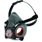 Force 8 half mask respirator, Grey/Red,  Medium (no filters)