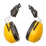 Clip-on Helmet Mounted Ear Protector, Yellow - SNR 26dB