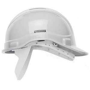 Standard Safety Helmet  White Unvented,  NSB (no sweatband)