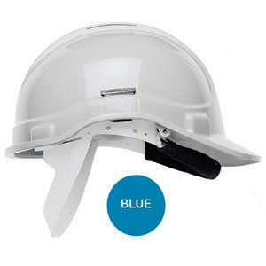 Standard Safety Helmet with sweatband  Blue