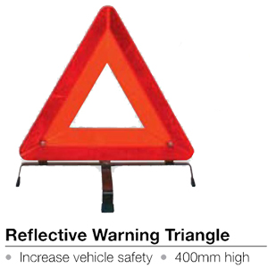 Reflective Warning Triangle, 400mm high