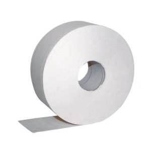 80mm core Jumbo Toilet rolls  (86mmx400m) White  pk 6