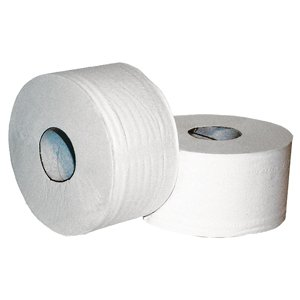 60mm core Mini Jumbo 2-plyToilet Rolls 86mmx150m White  pk12